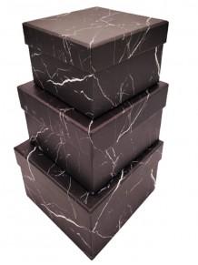 Siyah Mermer 3'lü Hediye Kutusu