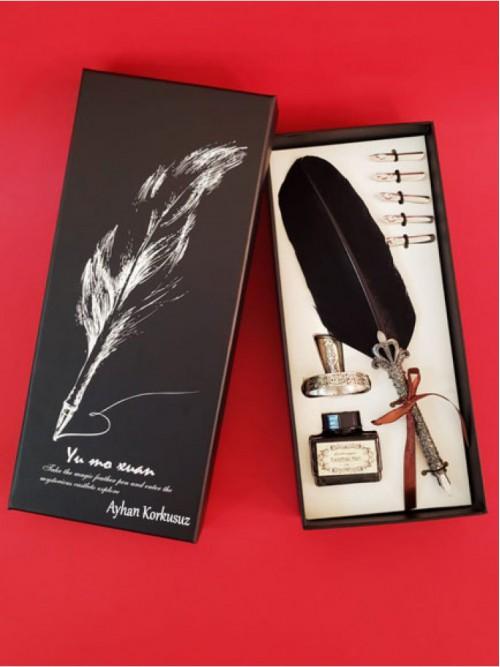 İsme Özel Siyah Vip Divit Kalem Set