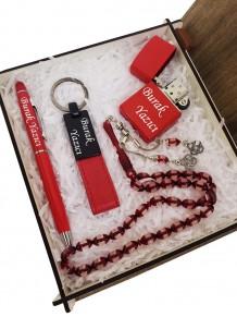 Kişiye Özel Kalem Anahtarlık Tesbih Ve Çakmak Set