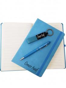 İsme Özel Defter Anahtarlık Ve Kalem Set