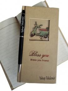 İsme Özel Hatıra Not Defteri Ve Kalem