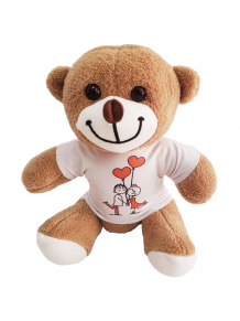Sevgili Temalı Tişörtlü Romantik Peluş Ayıcık