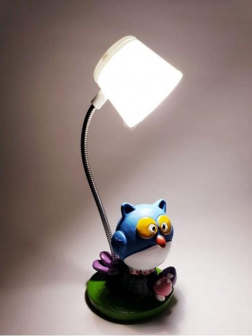 Dekoratif Işıklı Baykuş Masa Lambası