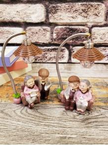 Dekoratif Işıklı Mutlu Dede Nine Biblo