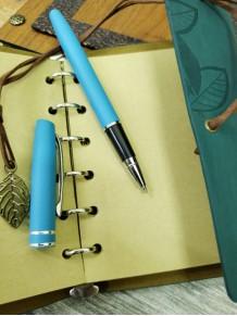 Erkeğe Özel İsimli Hatıra Defteri Ve Roller Kalem Seti Mavi Renk