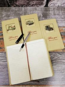 Kişiye Özel Retro Hatıra Not Defteri Ve Gümüş Renk Roller Kalem