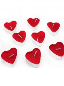 50 Li Teagliht Kırmızı Kalp Mum