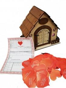 Ahşap Tasarımlı Romantik Aşk Evi