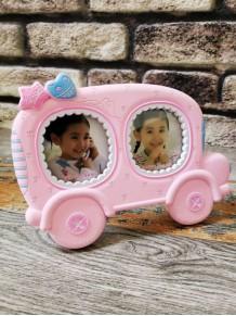 Araba Tasarımlı 2Li Bebek Fotoğraf Çerçevesi