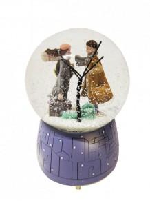 Büyük Boy Kış Temalı Püskürtmeli Işıklı Müzikli Romantik Kar Küresi