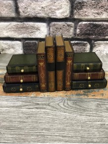 Çekmeceli Çift Taraflı Kitap Tutucu Ahşap