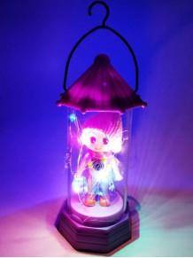 Dekoratif Bebekli Led Işıklı Fanus