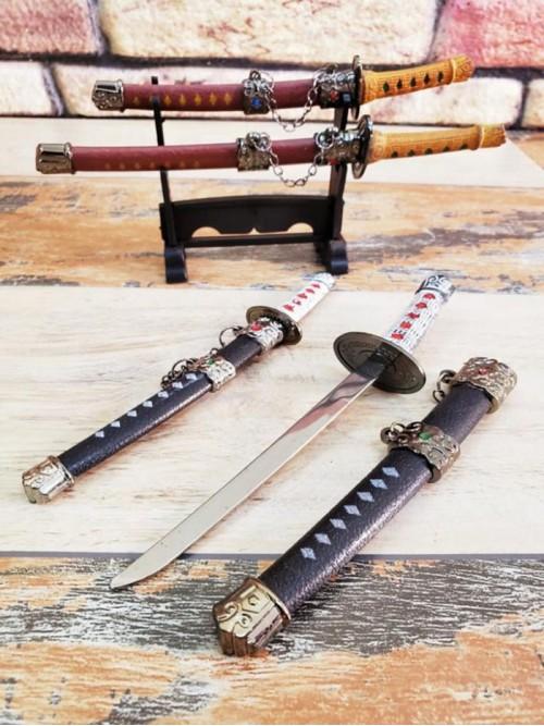 Dekoratif İkili Samuray Zarf Açacağı