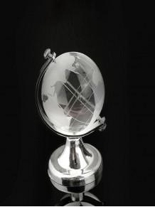 Dekoratif Küçük Boy Standlı Kristal Dünya