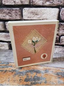 Hasır Çiçek Motifli Fotoğraf Albümü