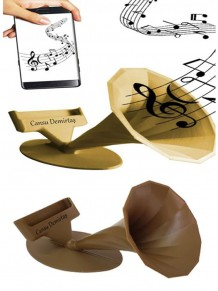 Akustik Gramafon Ses Yükseltici