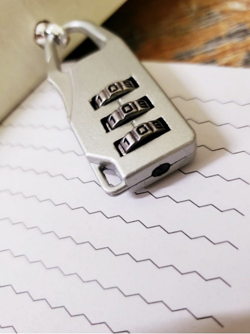 İlginç Hatıra Ve Not Defteri Şifreli Kilitli