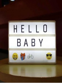 Işıklı A6 Lightbox Mesaj Yazı Panosu