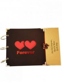 İsme Özel Romantik Forever Yazılı Çift Kalpli Albüm