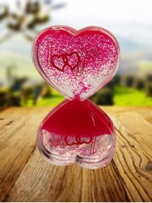 Kalp Şeklinde Sıvı Jelli Kum Saati