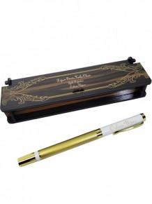 Kişiye Özel Altın Rengi Gold Lüks Beyaz Kapaklı Roller Kalem