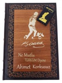 Kişiye Özel M Kemal Atatürk İmzalı Çakmak Deri Defter Set