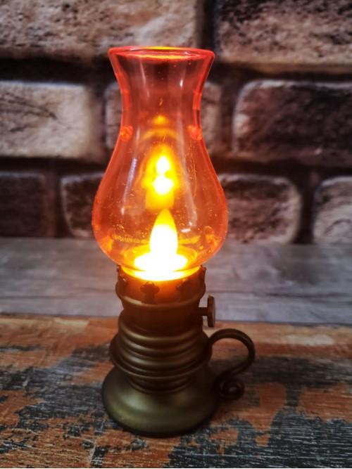 Mini Led Işıklı Dekoratif Nostaljik Gaz Lambası