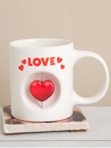 Love Kalp Simgeli Kupa Bardak Heart Mug