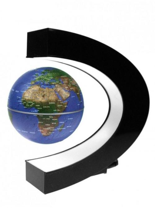 Manyetik Havada Dönen Sihirli Dünya Küre Standlı
