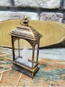 Mini Eskitme Dekoratif Pilli Led Mum Kandil Feneri