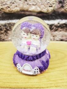 Mini Sevgili Temalı Işıklı Kar Küresi