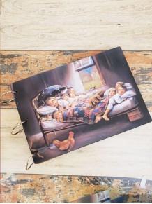 Mutlu Aile Temalı Ahşap Albüm
