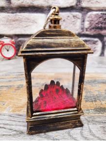 Eskitme Mini Dekoratif Şömine Tasarımlı Led Pilli Mum