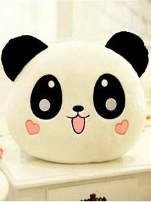 Panda Tasarımlı Kalp Yanaklı Yastık