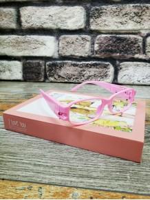 Pembe Renk Led Işıklı Kitap Okuma Gözlüğü Camsız