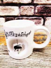 Piyano Tasarımlı Stress Kupa