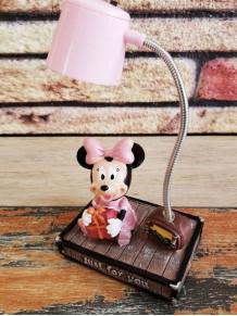 Sevimli Mickey Ve Minnie Mouse Dekoratif Masa Lambası