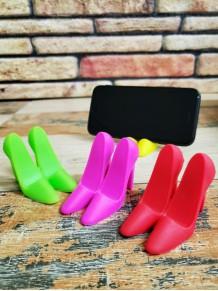 Topuklu Ayakkabı Şeklinde Mini Silikon Telefon Standı