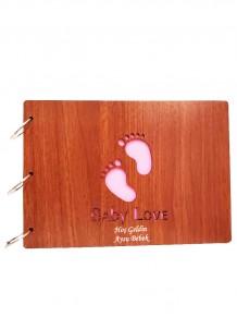 Kişiye Özel Baby Love Ahşap Albüm