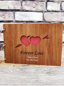 Kişiye Özel Forever Love Yazılı Ahşap Albüm