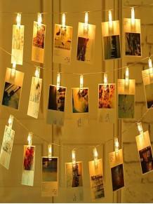 Şeffaf 20Li Led Fotoğraf Mandalları