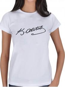 Bayana Atatürk İmzalı Beyaz Tişört