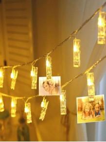 10 Lu led Işıklı Fotoğraf Mandalları